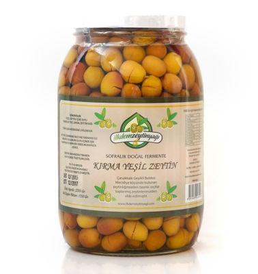 Doğal Fermente Kırma Yeşil Zeytin Net: 1350 gr.